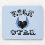Estrella del rock tapetes de raton