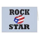 Estrella del rock tarjeta