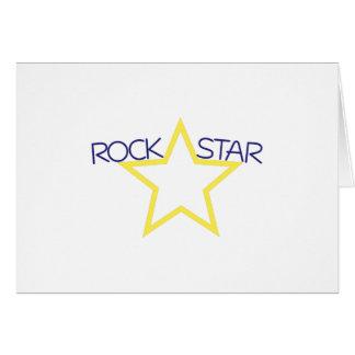 Estrella del rock tarjeta de felicitación