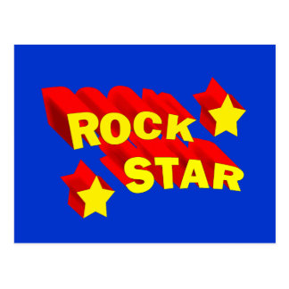 Estrella del rock postales