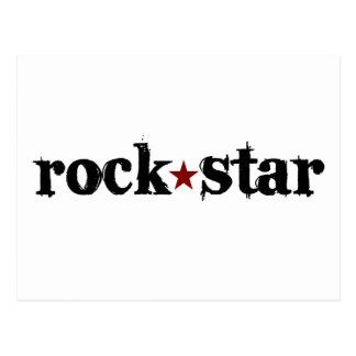 Estrella del rock tarjetas postales