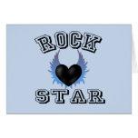 Estrella del rock tarjeton