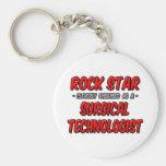 Estrella del rock. Tecnólogo quirúrgico Llavero Personalizado