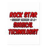 Estrella del rock. Tecnólogo quirúrgico Tarjetas Postales