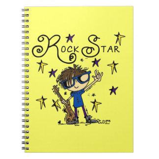 Estrella del rock triguena libros de apuntes con espiral