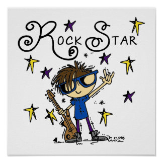Estrella del rock triguena póster