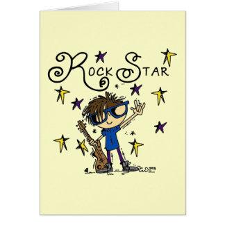 Estrella del rock triguena tarjeta pequeña
