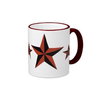 Estrella del Rockabilly Taza De Dos Colores