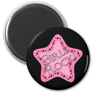 Estrella del rosa de rock de los chicas imán de frigorífico