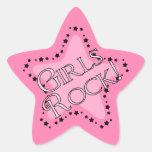 Estrella del rosa de rock de los chicas calcomanías forma de estrellas personalizadas