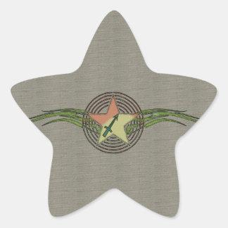 Estrella del sagitario pegatina en forma de estrella