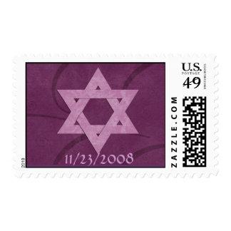 Estrella del sello de Mitzvah del palo de David