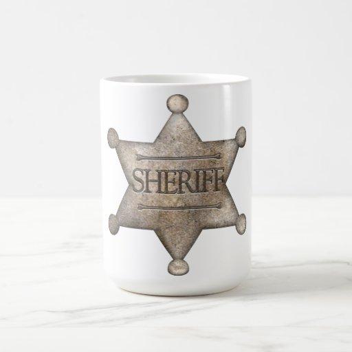 Estrella del sheriff tazas