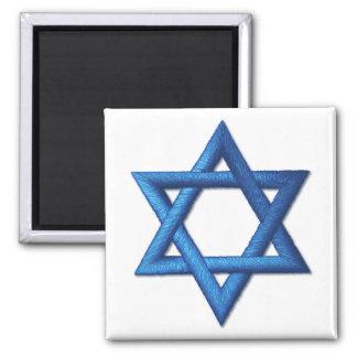 Estrella del símbolo israelí judío de David Imán Cuadrado