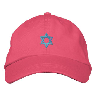 Estrella del símbolo judío de David Gorro Bordado
