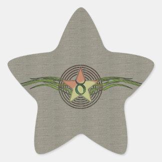 Estrella del tauro pegatina en forma de estrella