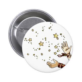Estrella del tintineo pin redondo de 2 pulgadas