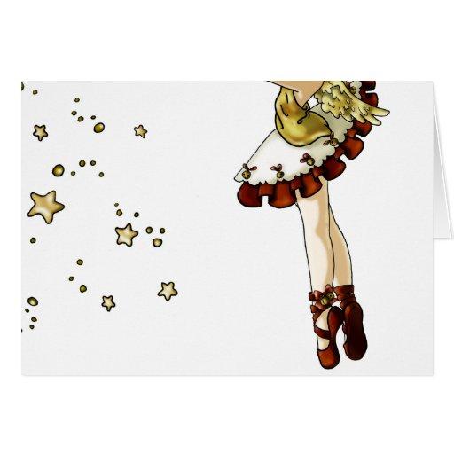 Estrella del tintineo tarjeta de felicitación