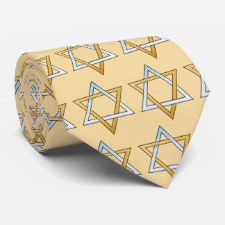 Estrella del tono de la plata y del oro dos de corbata personalizada