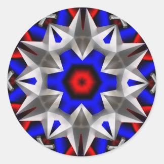 Estrella del transformador pegatina redonda