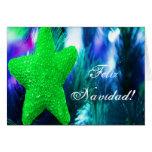 Estrella del verde de Feliz Navidad del navidad I Felicitación