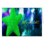 Estrella del verde de Navidad del navidad I Tarjeta