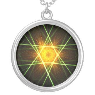 Estrella del verde del oro - collar