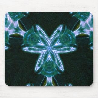 Estrella del vidrio verde tapetes de ratón