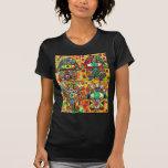 Estrella del vintage Tapastry de David Hamsa Camiseta