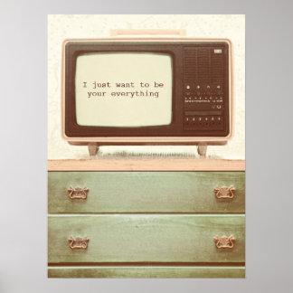 Estrella del vintage TV Póster