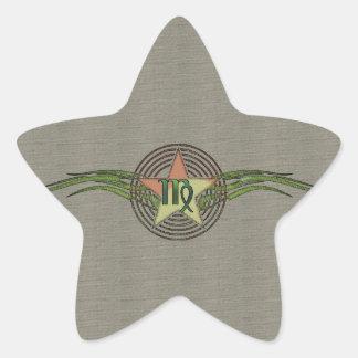 Estrella del virgo pegatina en forma de estrella