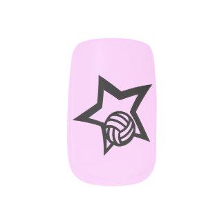 Estrella del voleibol pegatina para manicura