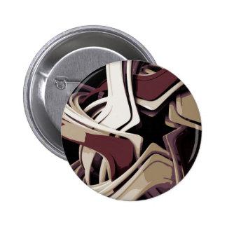 Estrella derretida color pin redondo 5 cm