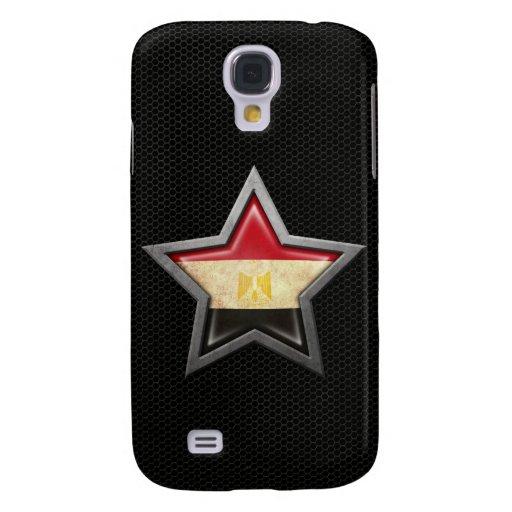 Estrella egipcia de la bandera con el efecto de ac funda para galaxy s4
