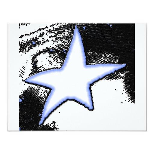 """Estrella el caer invitación 4.25"""" x 5.5"""""""