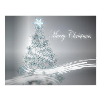 Estrella elegante del árbol de navidad y de la pla tarjetas postales
