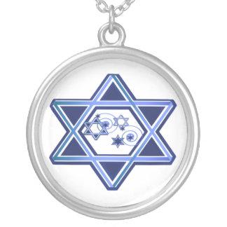 Estrella elegante del collar de David