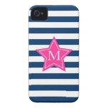 Estrella elegante y caso del iPhone 4/4S del monog