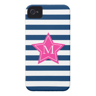Estrella elegante y caso del iPhone 4 4S del monog iPhone 4 Fundas