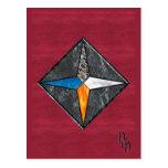 Estrella elemental tarjeta postal