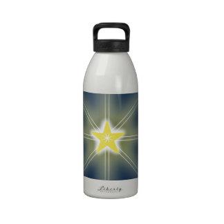 Estrella en el cielo botella de agua