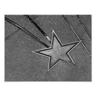 Estrella en el hormigón impresiones fotográficas