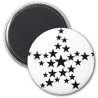 estrella en icono de la estrella imán redondo 5 cm