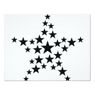 """estrella en icono de la estrella invitación 4.25"""" x 5.5"""""""