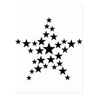 estrella en icono de la estrella tarjetas postales