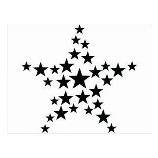 estrella en icono de la estrella tarjeta postal