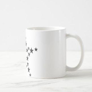 estrella en icono de la estrella taza básica blanca