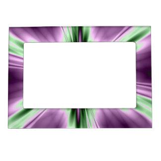 Estrella en púrpura y verde marcos magnéticos