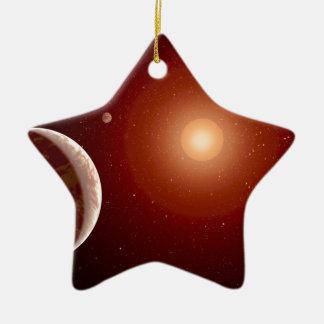 Estrella enana roja y Exoplanets Adorno De Cerámica En Forma De Estrella