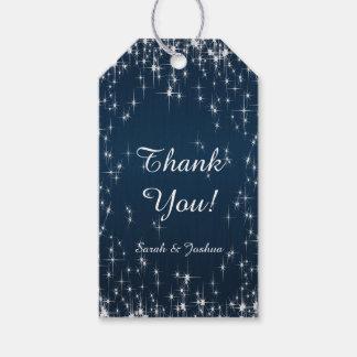 Estrella encantadora pegada casando azules marinos etiquetas para regalos